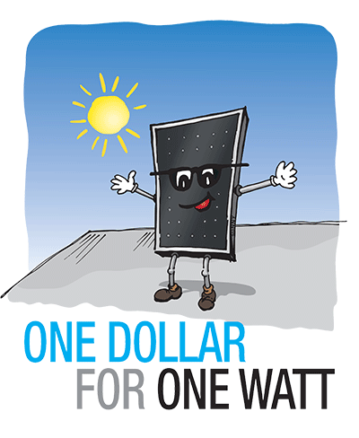 One Dollar for One Watt - Taxable Donations
