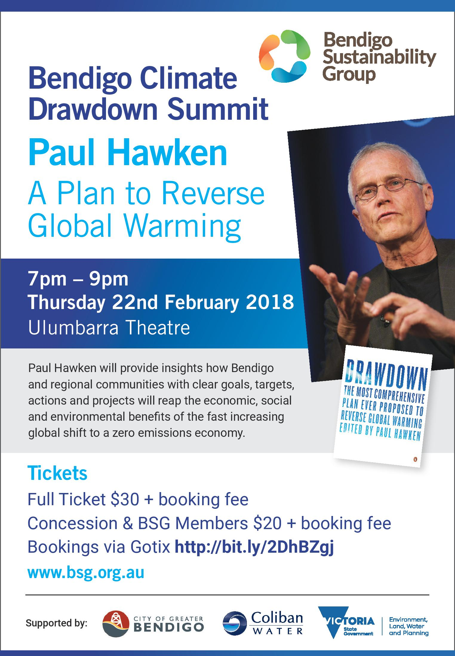 Bendigo summit Paul Hawken
