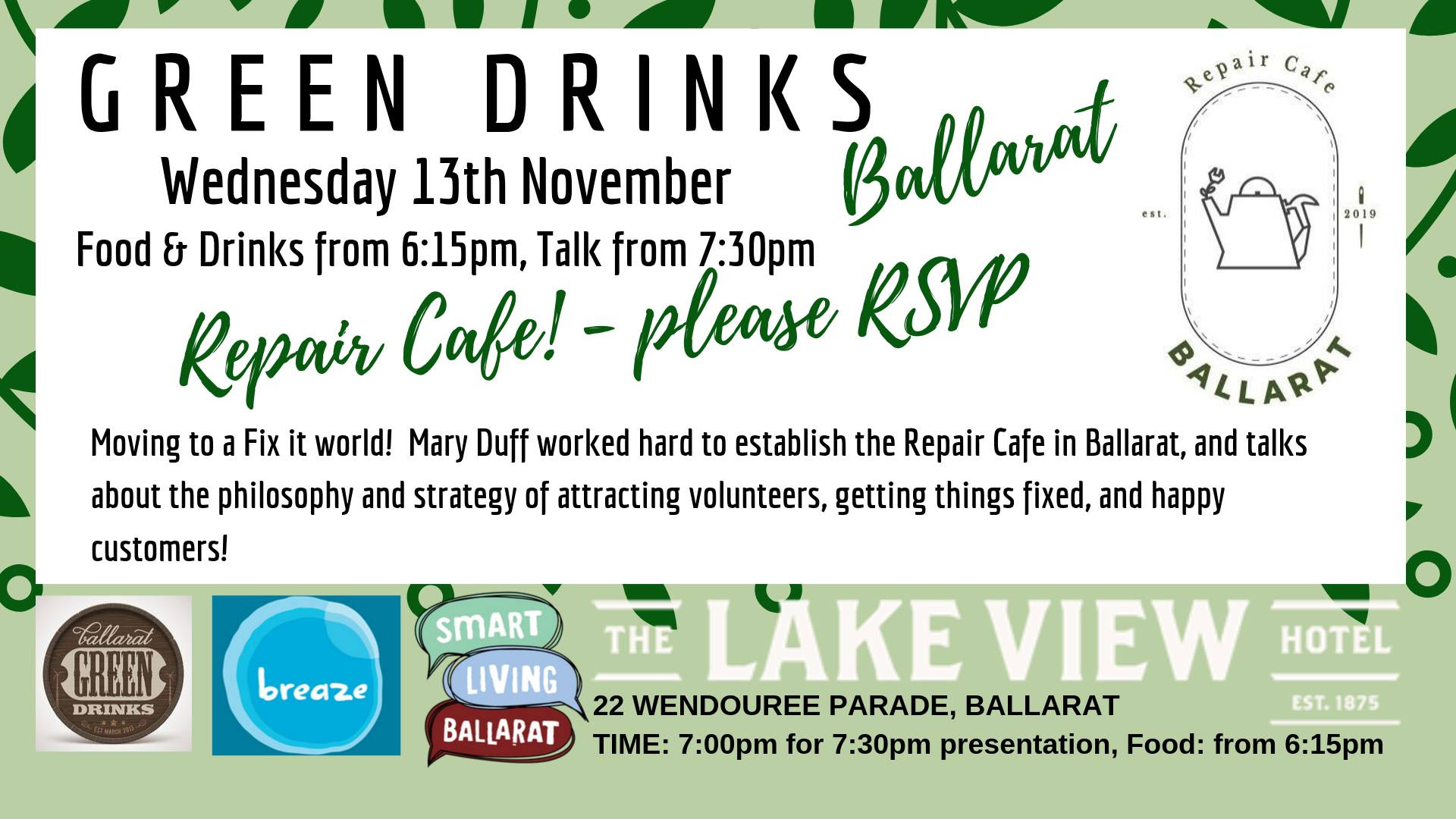 Green Drinks - About the Repair cafe