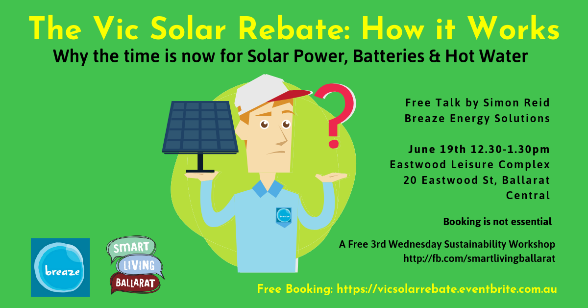 Solar Rebate June 2019 Poster FB