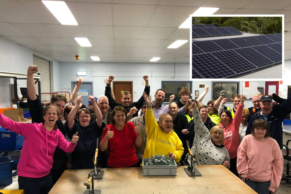 2019 02 12COMMUNITY POWER McAllum Disability Services celebrates the announcement of funding to install solar panels and reduce energy costs