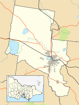 Ballarat City location map