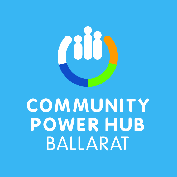 CPH Ballarat Stacked Logo Reversed on Blue